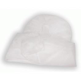 Sabanilla ajustable desechable blanca